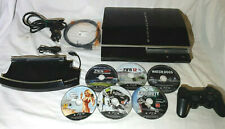 Sony PlayStation 3, 80GB. Phat Console Bundle. With Vertical Stand + 6 Games.