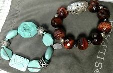 Silpada B2162 Turquoise Howlite Magnesite & B2900 Bring the Heat (Red Tiger Eye)