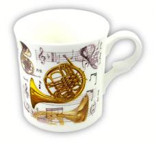 French Horn Mug - Music Themed Gift - Musical Mug - Gift for Horn Player