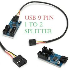 Motherboard USB 9 Pin Header 1 to 2 Splitter Port Multiplier Extension Cable UK