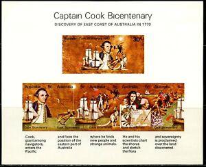 AUSTRALIA Sc#482a 1970 Captain Cook Discovery Souvenir Sheet Mint Hinged