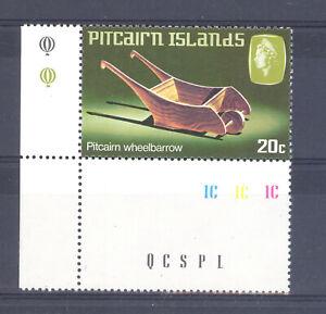 PITCAIRN ISLANDS SG 208 w HANDICRAFTS WATERMARK VARIETY MNH