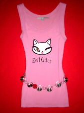 TALLY WEIJL TANK TOP HELLO KITTY RoCKaBiLLY Boho ROMANTIK SHIRT S NEUW.!!!