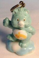 1985 Wish Care Bear 2 inch Figural Attachable Friend Bear Figure Hard Plastic