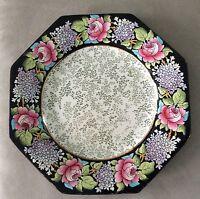 """8 - Antique 1840-1900 Winton Grimwades England FIBRE Hand Painted 8.5"""" Plate"""