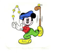 MICKEY MOUSE GOLF HAND PAINTED LTD ED ETCHING