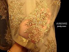 Pakistani Designer Beaded Pearls Embroidered Kameez Kurta Bell Bottoms Stitched