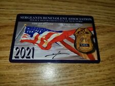2021 NYPD SBA Card,original and authentic Collectable, Free Shipping!