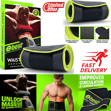 Sport Authority Waist Trimmer Ab Belt Weight Loss Fat Wrap Sweat Exercise Body