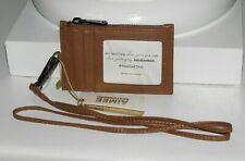 AIMEE KESTENBERG Brown Genuine Leather Lanyard ID Badge Card Holder  NWT $48.00