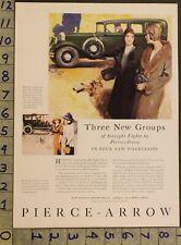 1930 Pierce Arrow Foster Illus 1912 Saluki Dog Buffalo Motor Car Auto Ad Un91