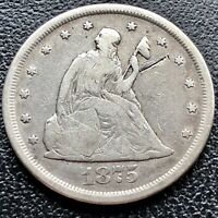 1875 CC Twenty Cent Piece 20c Carson City RARE Silver Better Grade #16874
