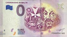 BILLET 0 ZERO EURO  SOUVENIR  CARAVAGIO IN MALTA 2019-1