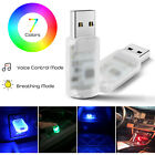 10pack USB Mini LED Light Colorful Plug and Play For Car Home Atmosphere Lamp US