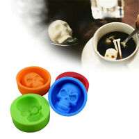 Hot Halloween Whiskey Ice Ball Maker Chocolate Muffin Skull Mold Silicone Mould