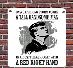 Peaky Blinders TV Show Theme Metal Hanging Plaque Wall Sign Shelby Present Gift