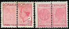 1942+1944 King Michael,Fiscal,Revenue,TAX stamps,2 LEI, Romania,MNH,rare!!!!