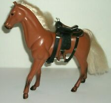 Vintage Kid Kore Horse Light Brown Blonde Hair Black Stocking Feet & Saddle 1994
