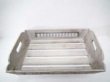 Tablett Dekotablett - Holz / Metall - Shabbylook grau - klein, mittel oder groß