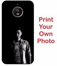 For Motorola Moto E4 Plus Hard Matte Back Cover Print Your Own Custom Case
