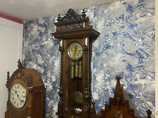 More details for magnificent gustav becker grand sonnerie vienna wall clock embossed weights etc