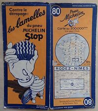 carte MICHELIN 80 RODEZ- NIMES 1936