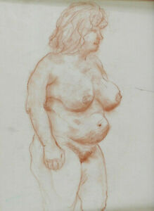 Estate Fritz WIMMER - Standing Female Nude Rubenesque Lady