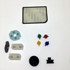 For Nintendo Game Boy Zero DMG-01 Buttons Conductive Rubber Mod Kit Glass Lens