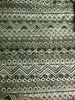 "Black And White Knit Stretch 45"" Fabric 2 Yards"