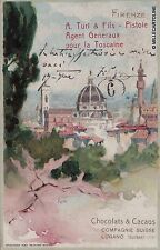 """# FIRENZE: A. TURI  """"CHOCOLATS & CACAOS"""" - Compagnie Suisse - Lugano ../."""