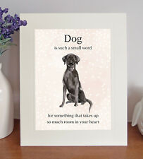 """Labrador (Black) """"Dog is such a small word..."""" 8 x 10 Picture Print Fun Gift"""
