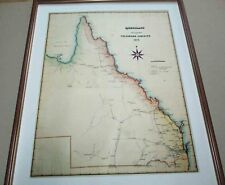 Queensland. antique map.1878
