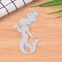 Mermaid Metal DIY Cutting Die Stencil Scrapbook Album Paper Card Embossing  zg