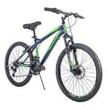 "NEW Huffy 24"" Nighthawk Boys Mountain Bike Blue Green 24 inch FAST SHIP"