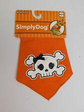 Simply Dog Girly Skull Printed Bandana Halloween Dog Costume Size XS/Small #7051