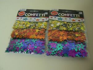 Amscan Multi-Color Star Confetti 2 Pack 1.2 Oz. Each Party Celebration Value