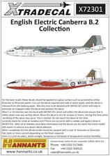 Xtradecal 72301 Decals 1/72 BAC/EE Canberra B.2 (6)