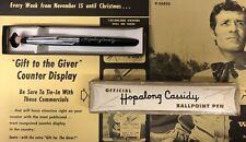 Parker Parkette Hopalong Cassidy Ballpoint Pen-Mint In The Original Box