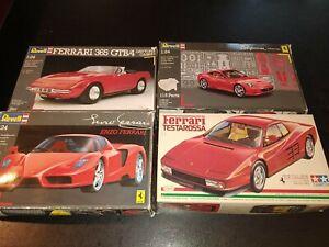 lot 4 maquettes voitures de sport FERRARI 1:24 REVELL TAMIYA