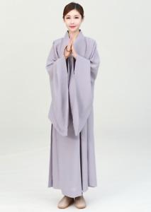 Shaolin monk high-quality dress meditation haiqing men and women lay robe