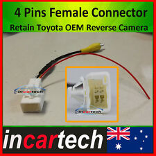 4 Pins Female Connector Retain /Keep OEM Factory Original Toyota Reverse Camera
