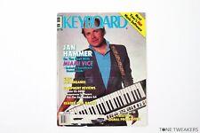 KEYBOARD MAGAZINE September 1985 2 Jan Hammer Miami Vice Casio CZ-5000 Bob Moog