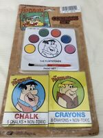 Vintage Flintstones Coloring And Paint Set By Hanna Barbers 1990 New!