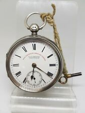 Antique solid silver gents J.G.Graves Sheffield pocket watch 1899 working re1169