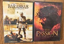 Barabbas & THe Passion of Christ  2 DVD Lot Ships Free! Quinn Gibson