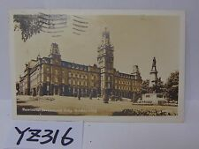 POSTED POSTCARD STAMP 1947 PROVINCIAL PARLIAMENT BUILDING QUEBEC CITY CANADA