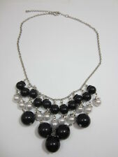 Pearl and Black Beaded Necklace