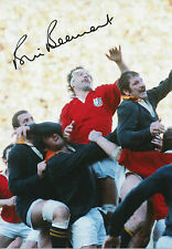 BILL BEAUMONT In Person Signed 12x8 Photo ENGLAND RUGBY UNION LEGEND Proof COA
