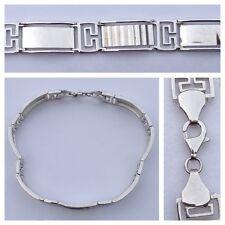 MAGNIFIQUE LARGE BRACELET ARGENT 925 argent bracelet en argent 22cm