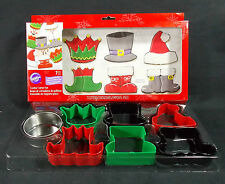 Wilton Cookie Cutter Set 7 Christmas Characters Individual or Combine Santa Elf